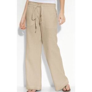 Anthro stem linen wide leg pants xs